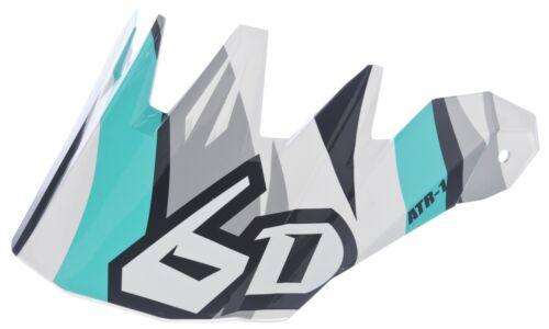 6D ATR-1 Flo REMPLACEMENT Visière-Pour Motocross Casque-Bleu Sarcelle