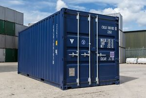 Image Is Loading New Blue 20x8 20 Foot Steel Storage Shipping