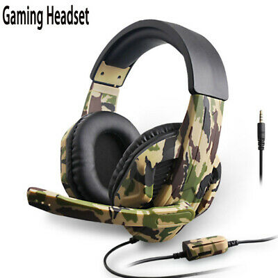 Army green camouflage 3.5mm Gaming Headset MIC Headphone for PC Laptop PS4 Xbox | eBay