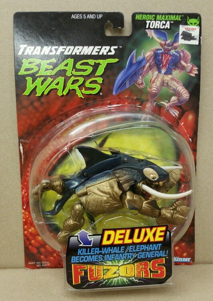 TORCA Transformers Beast Wars Fuzor Deluxe Killer Whale 1998 Hasbro w  Box RARE