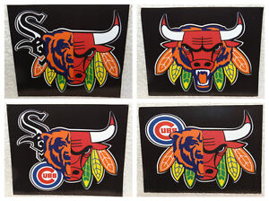 Chicago All Teams Blackhawks Bulls Bears Sox Custom Tshirt