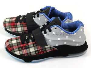 new product f0d10 855d6 Details about Nike KD 7 VII EXT CNVS QS University Red/Black-White Plaid  Polka Dot 726439-600