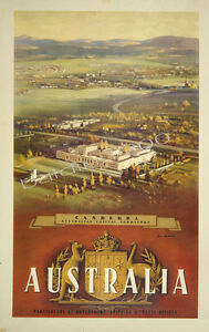 78f3d25f4f australia high quality retro vintage canberra travel poster print
