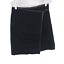 thumbnail 1 - DKNY Womens Wool Blend Button Wrap Style Above Knee Mini Skirt Black Size 6
