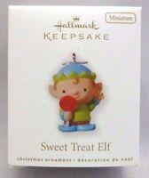 NEW 2010 Hallmark SWEET TREAT ELF Miniature Keepsake Ornament