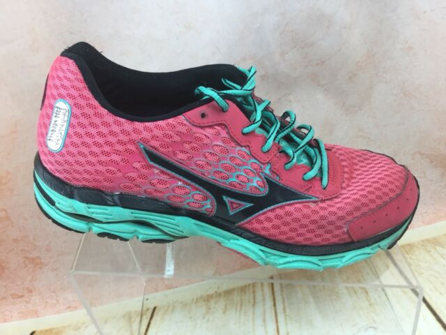 new concept 94597 e2f51 Mizuno Wave Inspire 11 Women's Pink Teal Running Shoes J1gd154409 Size 9 W