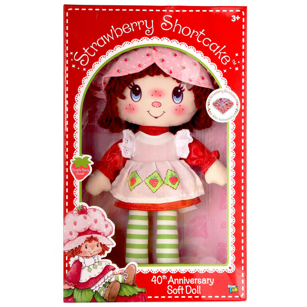 Strawberry Shortcake 40th Anniversary Doll with Glittery Shoes 5.5/""