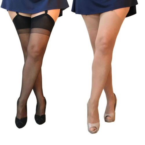 1 o pacco 3 Paia Essexee Gambe Plus Size ANTISMAGLIATURE Calze 15D 100/% Nylon