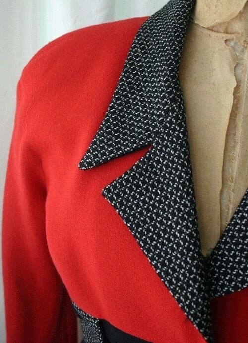 YT TRAVILLA Three Tone Fitted Jacket 80s - image 2