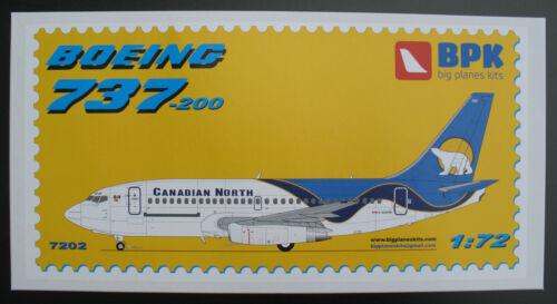 BPK 7202 Modellbausatz Big Planes Kits BOEING 737-200 CANADIAN NORTH 1:72