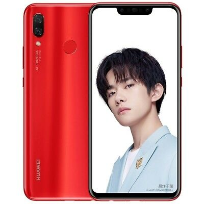 "HUAWEI Nova 3 Red 6GB 128GB 6.3"" Dual 24MP FHD+ Kirin970 Android Phone By FedEx"