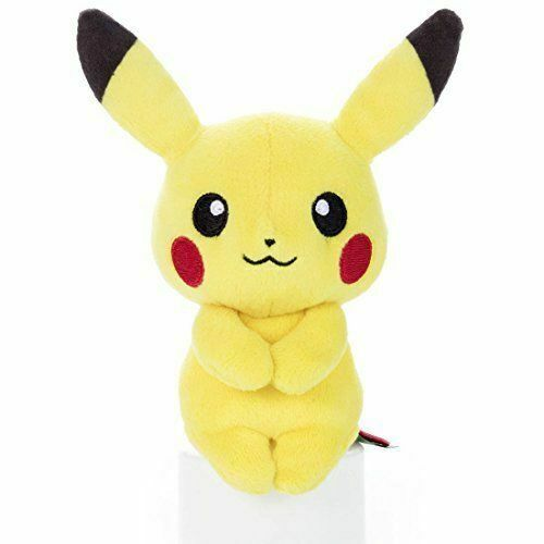 Takara Tomy Pokemon Chokkori Pikachu 15 cm tall Soft Doll Chaired Plush Japan