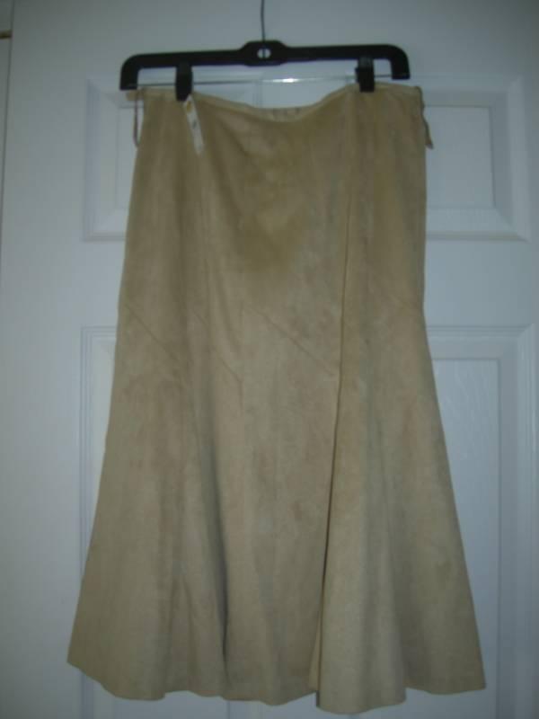 NWT Talbots Light Brown Soft Stretch Skirt Size 6