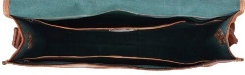 Men/'s vintage rare en Cuir Marron Sac Messenger épaule Sac d/'Ordinateur Portable Mallette