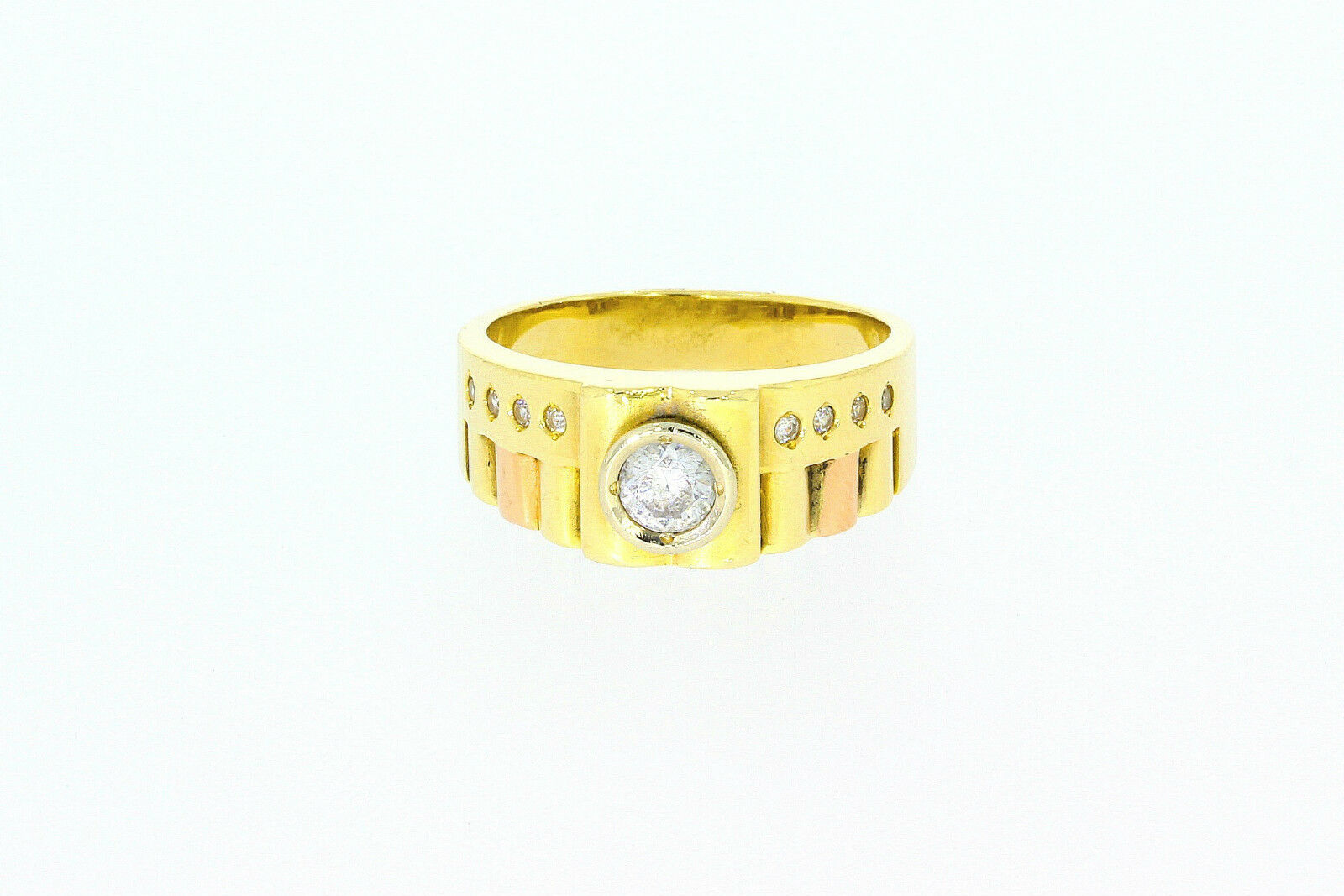 627-585er yellowgold Ring mit 9 Zirkonia Steinen Ringgroße 66 Gewicht 10,4 gramm