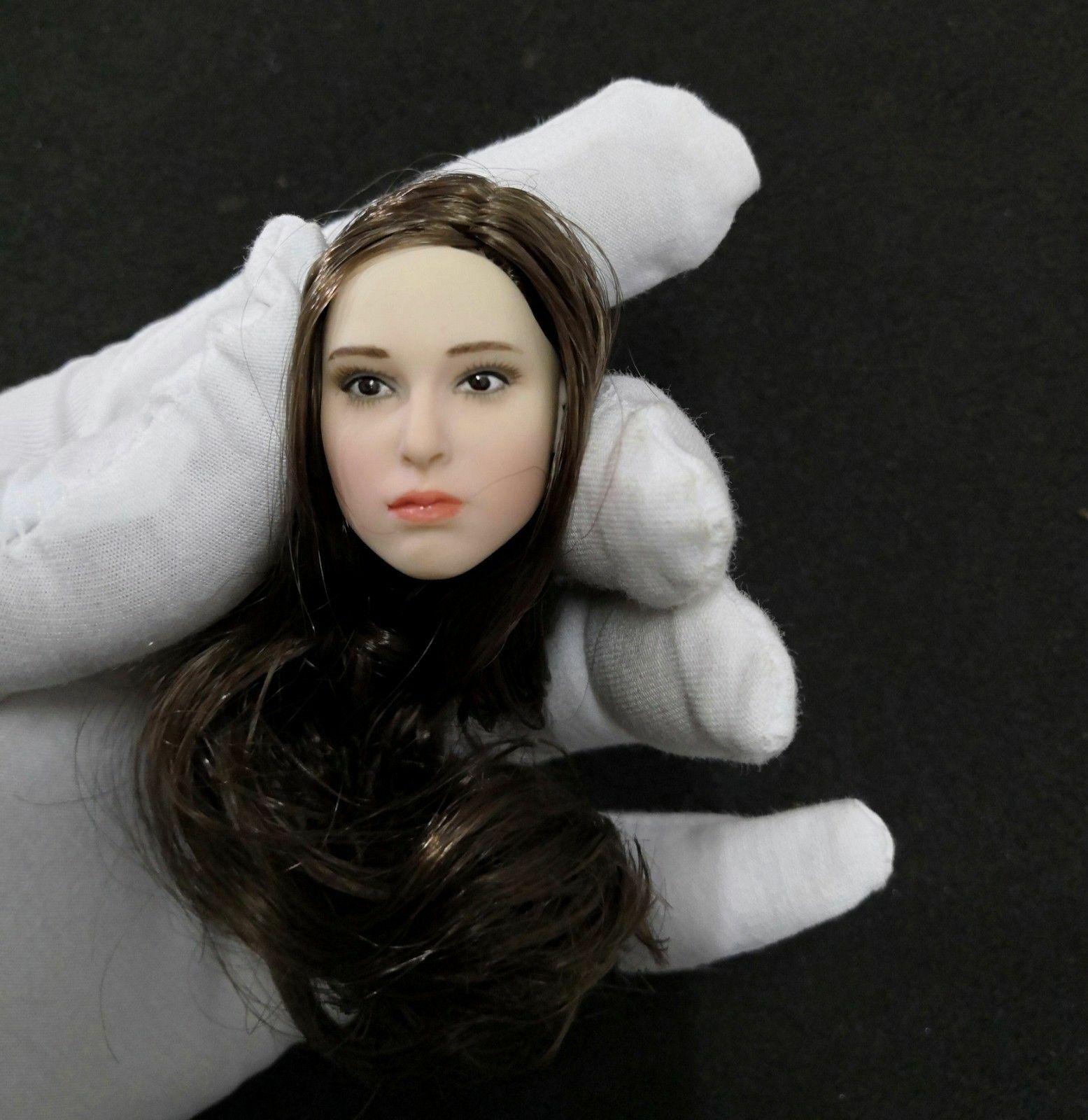 1 6 Female Natalie Portman Long Brown Hair Head Sculpt For PH 12'' Action Figure
