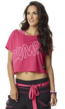New With Tags Zumba Fitness Party In Pink Boxy Tee Top Size L NWT