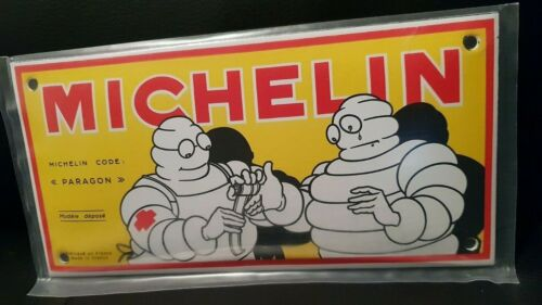 MICHELIN YELLOW RETRO GARAGE SIGN PORCELAIN EMAILLE // ENAMEL SHIELD PLATE