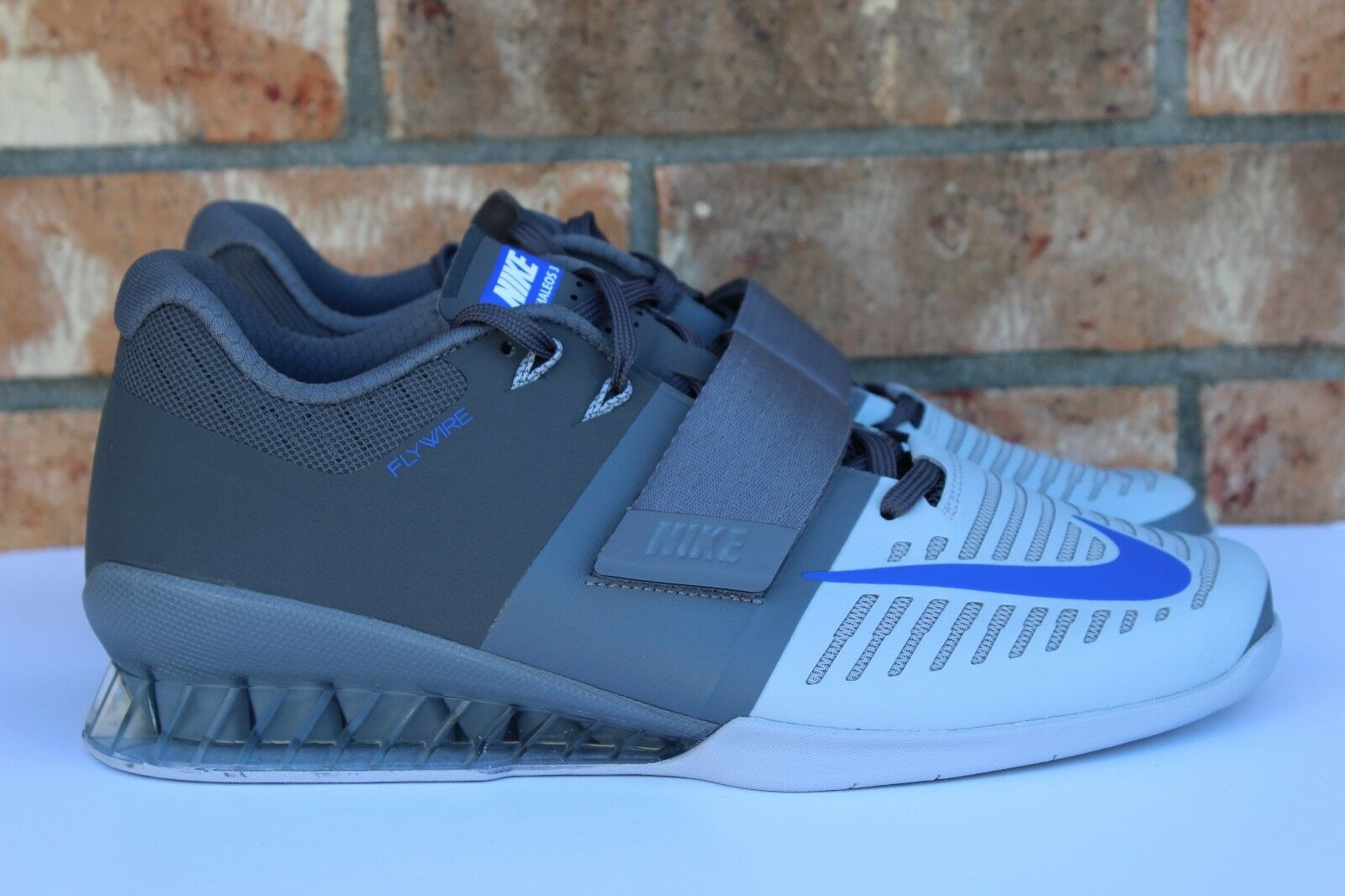 Men's Nike Romaleos 3 Weightlifting Crossfit Trainer shoes Grey bluee 852933-001