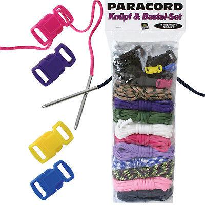 Paracord Bänder Set 2 Nadeln Paracord Schnüre Set Knüpfset Armband 4 Verschlüsse