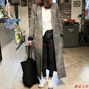 Women-039-s-Wool-Blend-Korean-Thick-Winter-Long-Loose-Fit-Overcoat-Casual-Parka-Coat