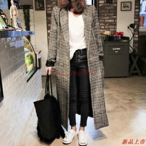 Fit Parka Tykt Casual Wool Vinter Women's Blend Koreansk Overcoat Coat Lang Løst vn4xqHZqw
