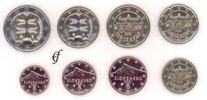 Slowakei Kursmünze - wählen Sie von 1 Cent - 2 Euro und alle Jahre - Neu