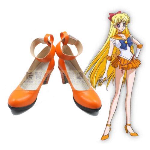 Hot Anime Sailor Moon Cosplay Shoes Custome Customized High-heeled Shoes