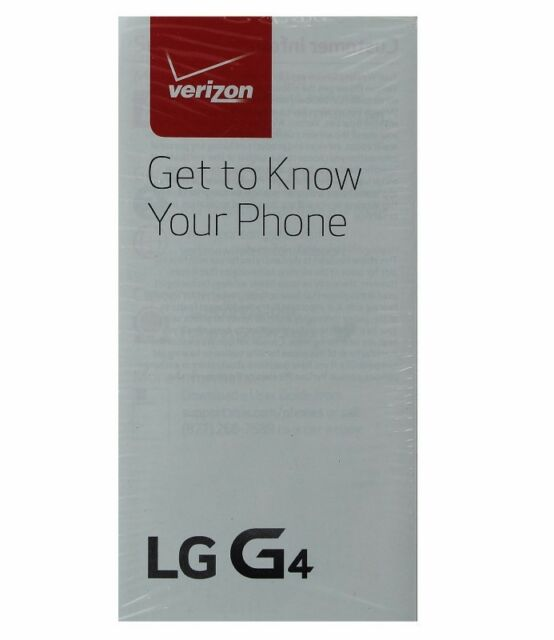 Lg g4 verizon manual guide/consumer and product safety info pack.