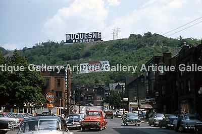 """with Duquesne Beer Sign Johnstown PA Vintage 1950/'s 8/"""" x 12/""""  Upper Main St"""