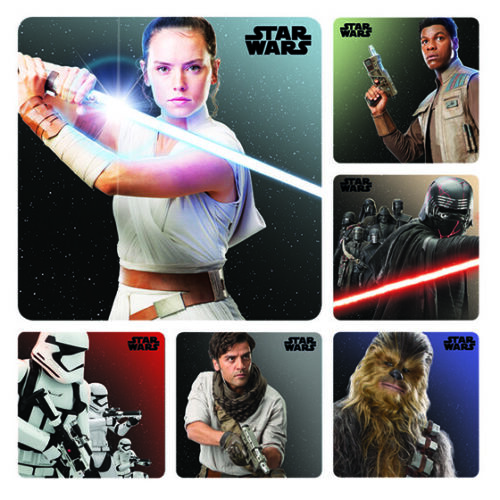 20 Star Wars IX STICKERS Party Favors Supplies Birthday Bags Rise of Skywalker