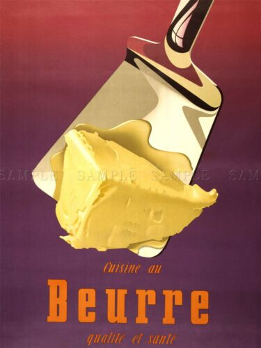 ADVERTISING BUTTER DAIRY PRODUCE SWITZERLAND FOOD COOL ART POSTER PRINT LV555