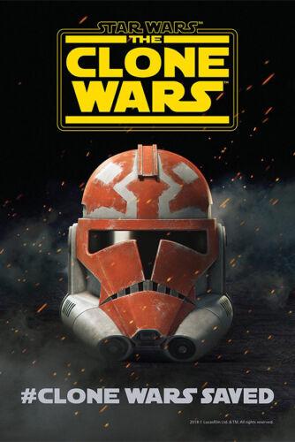 """Star Wars The Clone Wars Poster 36x24/"""" 21x14/"""" New 2019 Season 7 Saved Silk"""