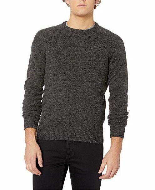 $190 Original Penguin Men/'s Gray Long-Sleeve Penguin Pattern Crew-Neck Sweater L