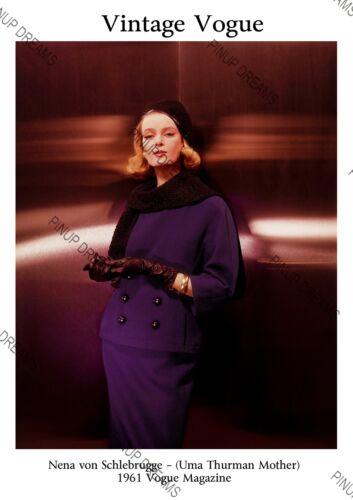 Uma Thurman Mother Images From Vogue Magazine Nena von Schlebrugge 1961