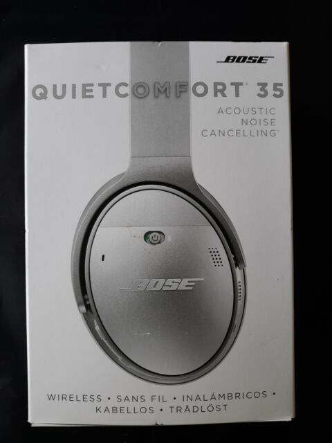 Bose QuietComfort 35 Noise Cancelling Wireless Headphones - Silver - Complete