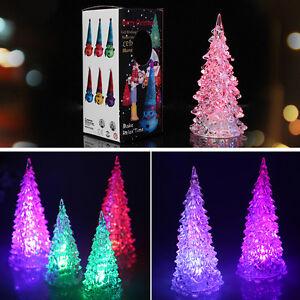 Small LED Christmas Tree Night Lights Table Lamp Garland
