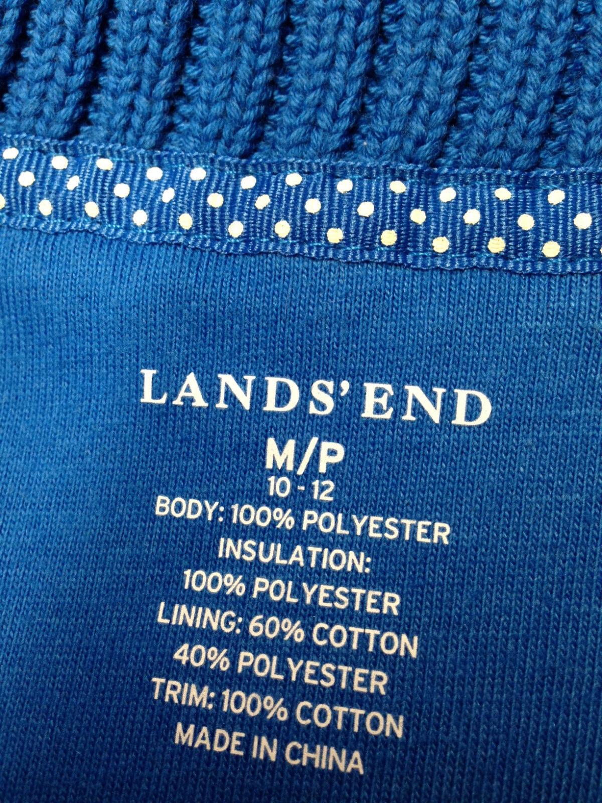 WOMEN'S LANDS' END FLEECE FLEECE FLEECE VEST-SIZE  M P (10-12) fe114b