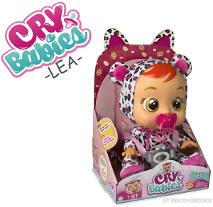 NEW Cry Babies LEA Baby Doll Girls Toy Cheetah IMC TOYS AAA Batteries Included