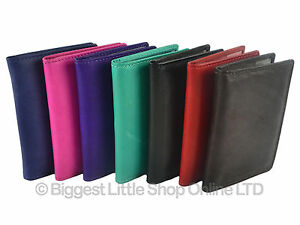NEW-Quality-Leather-Credit-Card-Wallet-in-7-Fashion-Colours-Black-Brown-Handy