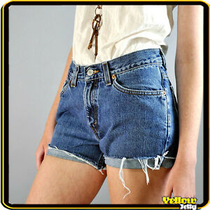 LEVIS-VINTAGE-HIGH-WAISTED-BLUE-WOMENS-LADIES-DENIM-SHORTS-SIZE-8-10-12-14-16