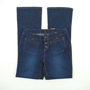 Emergency-Exit-Blue-Stretch-Denim-Flare-Jeans-Women-039-s-Size-9-10-W30-MEJ021
