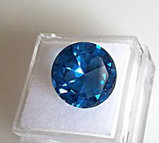 10.70ct. Round Cut Genuine (Natural) London Blue Topaz 14.0mm Loose Stone