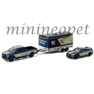 GREENLIGHT-51061-C-2014-NISSAN-SKYLINE-GT-R-35-amp-2015-FORD-F-150-GOOD-YEAR-1-64
