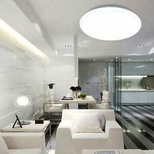 Modern Round LED Ceiling Light 20W 30W 40W Cool Warm Lighting Surface Mount TL7