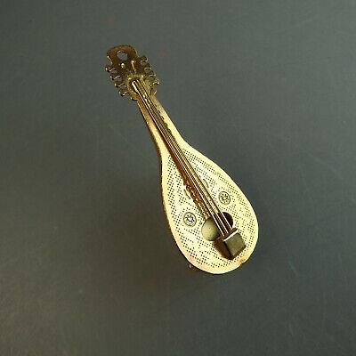 Figürliche Brosche Mandoline (55416)