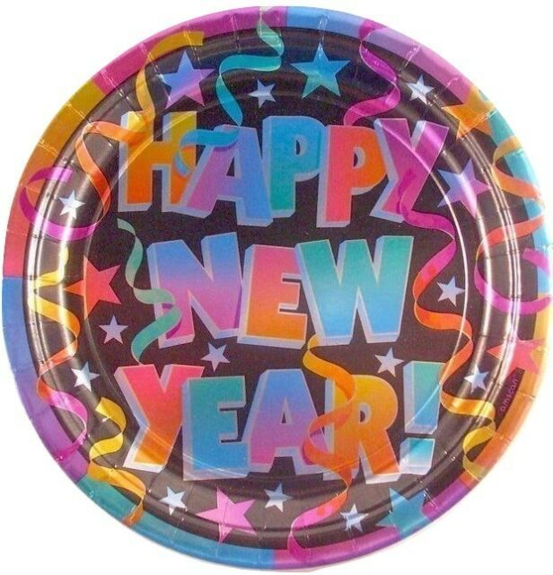 New Years Eve Party Dinner Plates (8) - Party Supplies | eBay