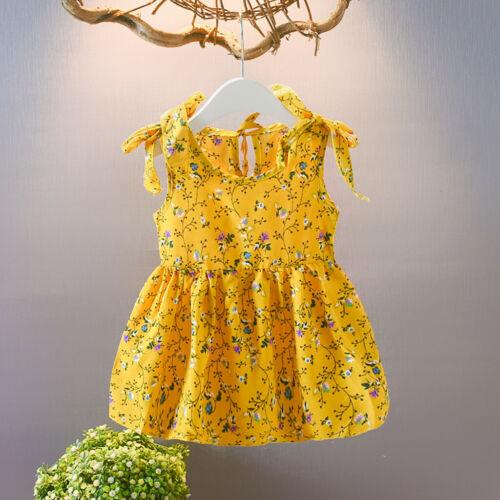 Newborn Toddler Kids Baby Girl Dress Strap Ruffles Leopard Print Princess Dress