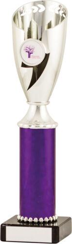 Toute manifestation sportive argent et violet présentation Tasses CUP 4 Tailles Gravure Gratuite