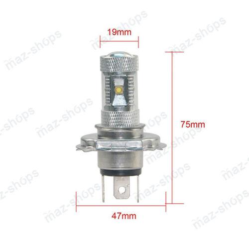 2Pcs H4 30W Cree LED Blue Headlights Bulbs Lamp For 96-01 Polaris Sportsman 500